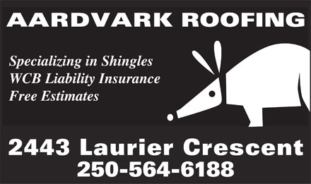 Yellow Pages listing: Aardvark Roofing
